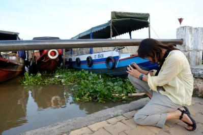 Video of Mekong river boats. Photo by Bao Quan Nguyen.