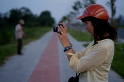 Photographing water buffalo in Can Tho, Vietnam. Photo by Bao Quan Nguyen.