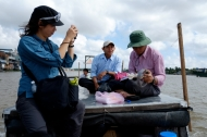 Fish sampling survey on the Mekong River with Can Tho University. Photo by Bao Quan Nguyen.