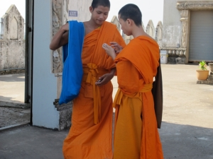 Monks on a cell phone