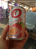 Passionfruit juice at the Hanoi airport - yum!