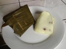 Vietnamese meat dumpling in banana leaf