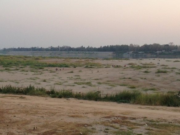 Low water on the Mekong River