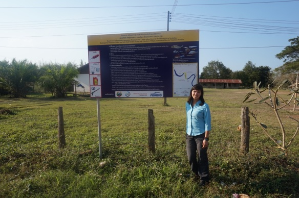 At last I got to see a Fish Conservation Zone sign I helped design!