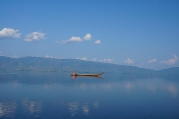 Fishing boat on the lake