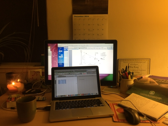 Setting the mood and diving back into thesis graphs.