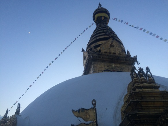 Moon over the stupa