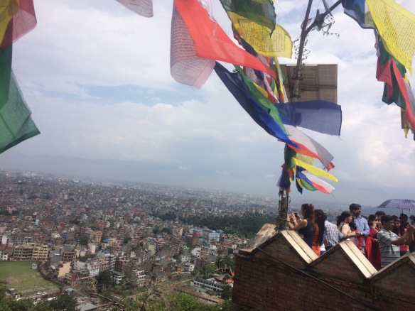 Prayer flags over Kathmandu